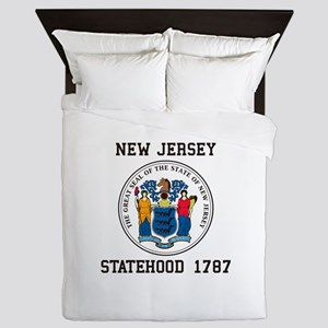 New Jersey Statehood Queen Duvet