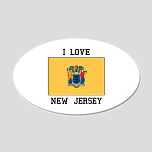 I Love New Jersey Wall Decal