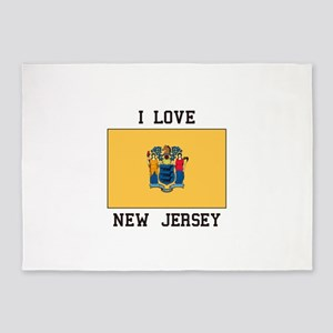 I Love New Jersey 5'x7'Area Rug