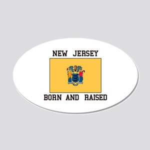 New Jersey Born And Raised Wall Decal