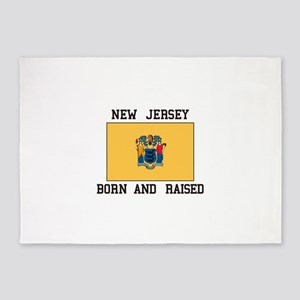 New Jersey Born And Raised 5'x7'Area Rug