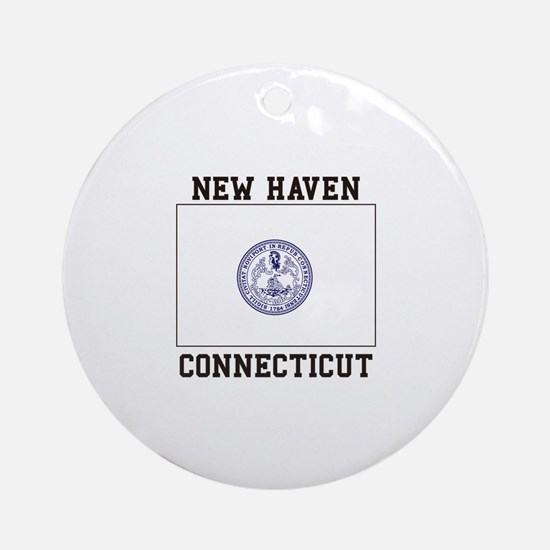 New Haven Flag Ornament (Round)