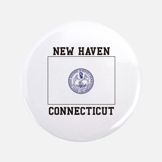 New Haven Flag Button