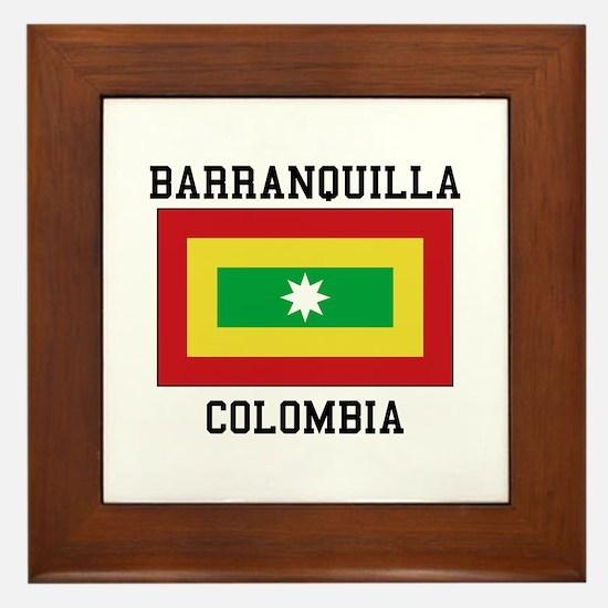 Barranquilla Colombia Framed Tile