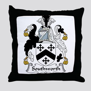 Southworth Family Crest Throw Pillow