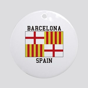 Barcelona Spain Ornament (Round)