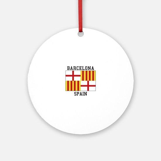 Barcelona Spain Ornament (Round)