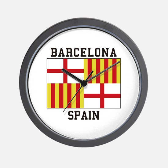 Barcelona Spain Wall Clock