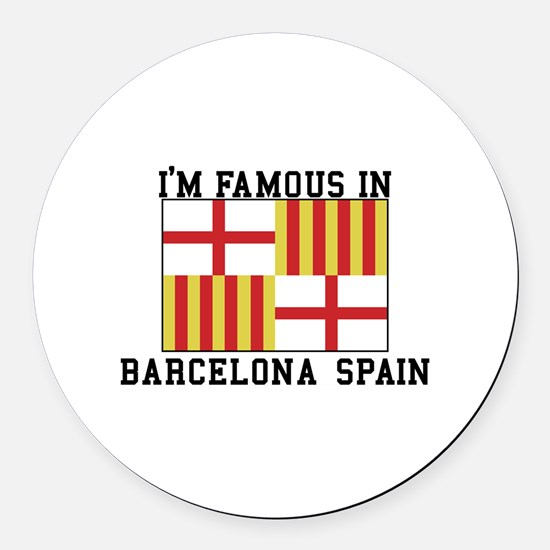 Famous In Spain Round Car Magnet