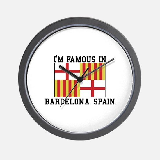 Famous In Spain Wall Clock
