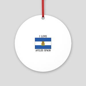 I Love Spain Ornament (Round)