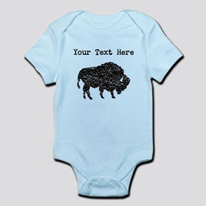 Distressed Bison Silhouette (Custom) Body Suit