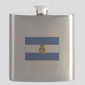 Aviles, Spain Flag Flask