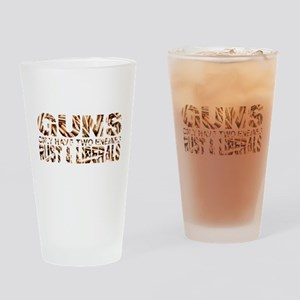 GUNS Drinking Glass