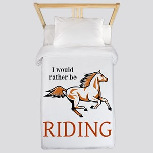 Rather Be Riding Twin Duvet