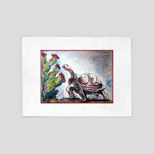 Desert tortoise! Wildlife art! 5'x7'Area Rug