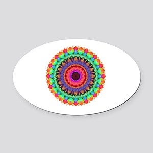 A Rainbow in Light Oval Car Magnet