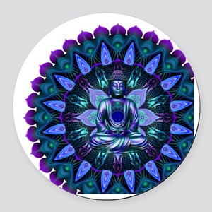 The Evening Light Buddha Round Car Magnet