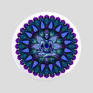 The Evening Light Buddha Button