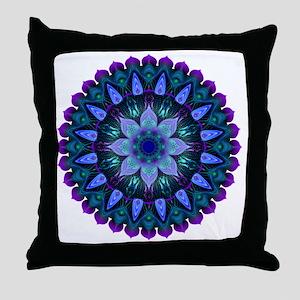 Evening Light Mandala Throw Pillow