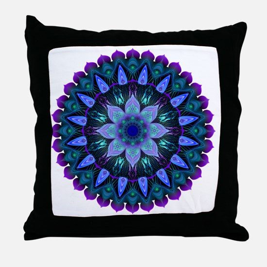 Evening Light Mandala Throw Pillow