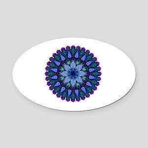 Evening Light Mandala Oval Car Magnet
