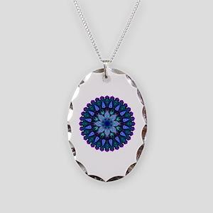 Evening Light Mandala Necklace Oval Charm