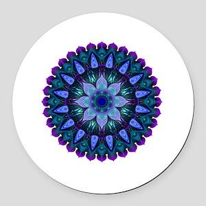 Evening Light Mandala Round Car Magnet