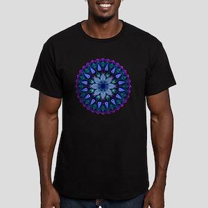 Evening Light Mandala Men's Fitted T-Shirt (dark)