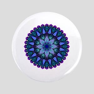 Evening Light Mandala Button