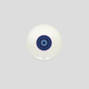 Evening Light Mandala Mini Button