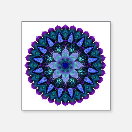 "Evening Light Mandala Square Sticker 3"" x 3"""