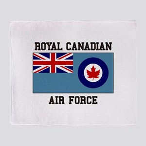 Canadian Air Force Throw Blanket