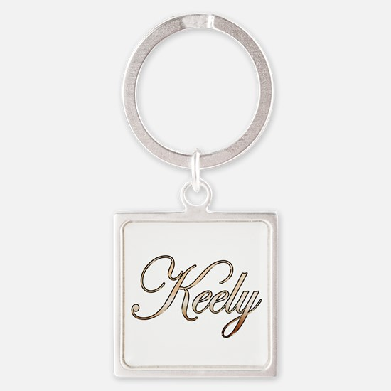 Gold Keely Square Keychain