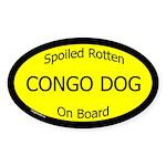 Spoiled Congo Dog On Board Oval Sticker