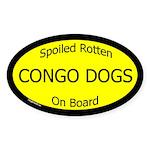 Spoiled Congo Dogs On Board Oval Sticker