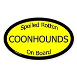 Spoiled Coonhounds On Board Oval Sticker
