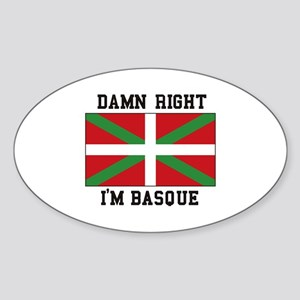 Damn Right I'MBasque Sticker