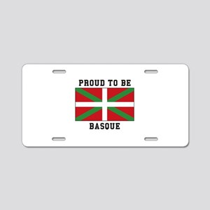 Proud to be Basque Aluminum License Plate