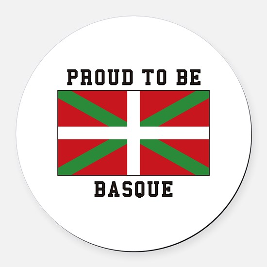 Proud to be Basque Round Car Magnet