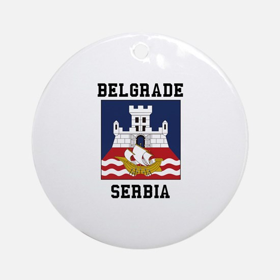 Belgrade Serbia Ornament (Round)