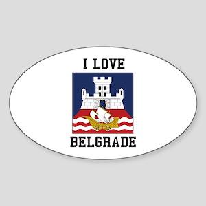 I Love Belgrade Sticker