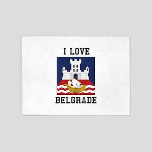 I Love Belgrade 5'x7'Area Rug