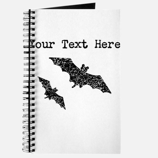 Distressed Bats Silhouette (Custom) Journal