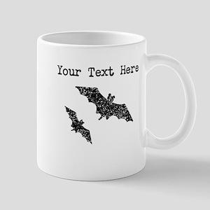 Distressed Bats Silhouette (Custom) Mugs