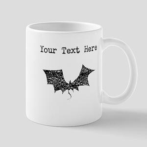 Distressed Bat Silhouette (Custom) Mugs