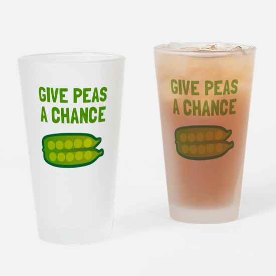 Give Peas A Chance Drinking Glass