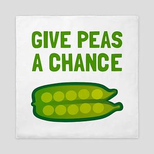 Give Peas A Chance Queen Duvet