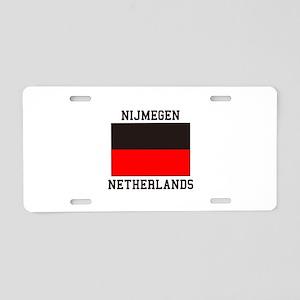 Nijmegen Flag Aluminum License Plate