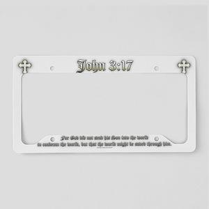 John 3:17 License Plate Holder